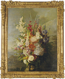 Still life of a bouquet of flo