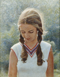 Girl with sunlight in her hair