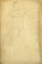 Study for Cain; and two compan