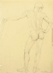 Standing nude; and two compani