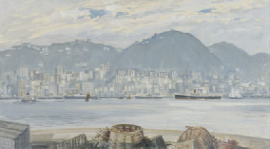 Winter view of Hong Kong Islan