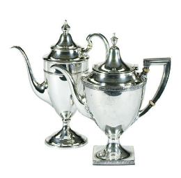 TWO AMERICAN SILVER PART TEA S
