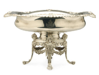 AN AMERICAN SILVER-PLATED OVAL