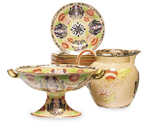 AN ENGLISH PEARLWARE 'OEIL-DE-