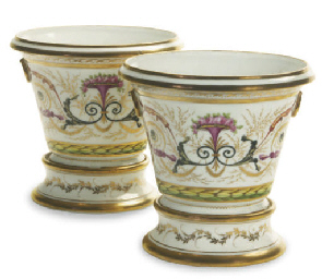 TWO PAIRS OF PARIS PORCELAIN F