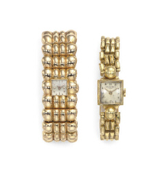 A GROUP OF 18K GOLD BRACELET W