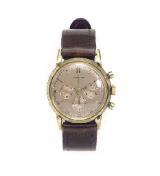 AN 18K GOLD CHRONOGRAPH WRISTW