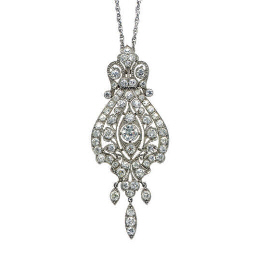 A DIAMOND AND PLATINUM PENDANT