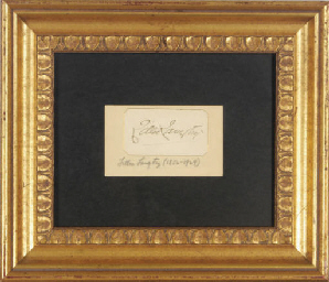 A FRAMED SIGNATURE OF LILLIE L