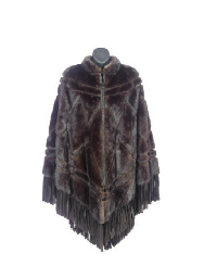 A CHRISTIAN DIOR MINK CAPE WIT