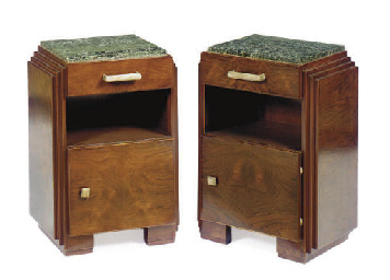 A PAIR OF ART DECO ROSEWOOD, M