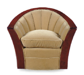 A SET OF FOUR VELVET UPHOLSTER
