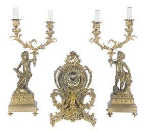 AN ASSEMBLED CONTINENTAL GILT-