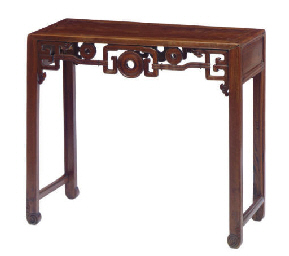 A CHINESE HARDWOOD SIDE TABLE,