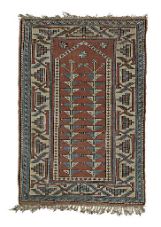 A TURKISH PRAYER RUG,