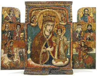 A TRIPTYCH SHOWING THE MOTHER