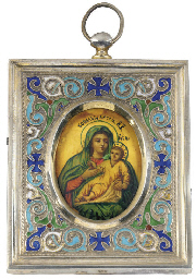 A MINIATURE ICON OF THE MOTHER