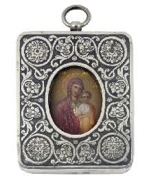 A TRAVELLING ICON DEPICTING TH