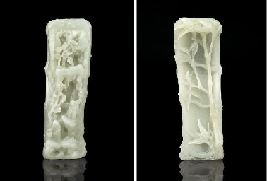 A RARE WHITE JADE CARVING