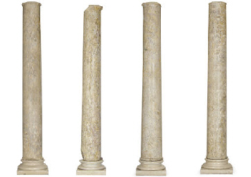 A SET OF FOUR CYLINDRICAL MARB