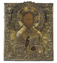 A PROVINCIAL RUSSIAN ICON OF S