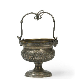 AN ITALIAN SILVER HOLY WATER S