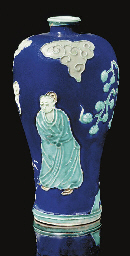 A fahua vase, meiping, 16th Ce