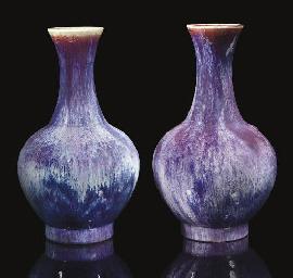 Two flambe vases, 19th century