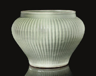 A Longquan celadon jar, Guan,