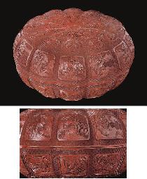 A cinnabar lacquer circular lo