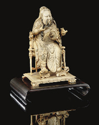 An ivory figure of Guandi, 19t