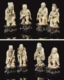 An ivory set of the Eight Daoi