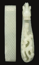 A white jade belt hook, 19th c