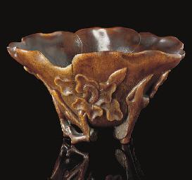 A rhinoceros horn libation cup