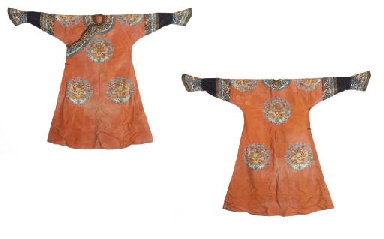 AN ORANGE SILK GAUZE SUMMER LO