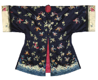 A SEMI FORMAL SHORT ROBE, 19TH