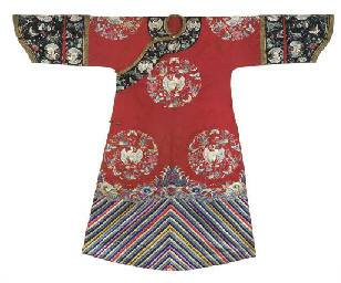 A MANCHU WEDDING ROBE, LATE 19