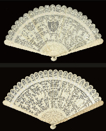A CANTON IVORY BRISE FAN, 19TH