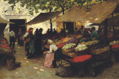 Fruit Market, Fiume, Hungary