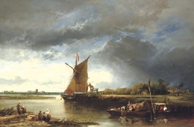 A Barge in a Norfolk Landscape