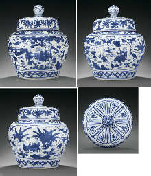 A MAGNIFICENT MING BLUE AND WH