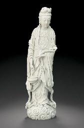 A RARE DEHUA FIGURE OF GUANYIN