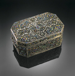 A SILVER-GILT FILIGREE PASTE-E