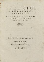 COMMANDINO, Federico (1509-157