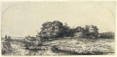 Landscape with a Haybarn and a