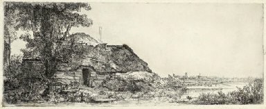 Landscape with a Cottage and a