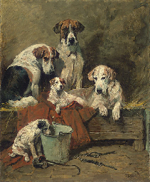 Hounds and Terriers in a Stabl