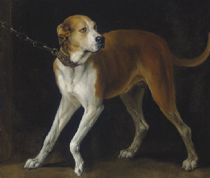 A Favorite Hound held by a Cha