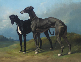 Greyhounds in a Landscape
