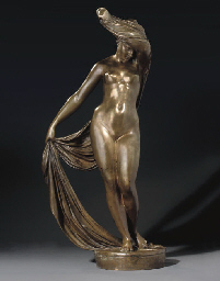 Gilt-bronze figure of Rodopa